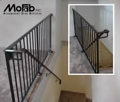decor wrought iron railing to give your stairs unique look