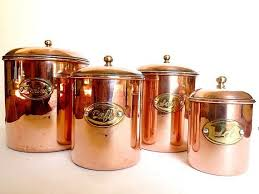 copper kitchen canisters copper canisters housewares kitchen decor copper copper