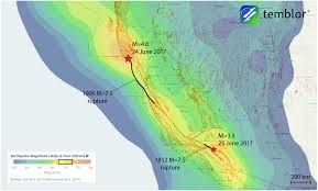 San Andreas Map Weekend Earthquakes Along The San Andreas Fault Mark Tips Of Great