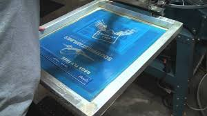 Screen Printed Aprons How To Screen Print Setting Up U0026 Printing Aprons Youtube