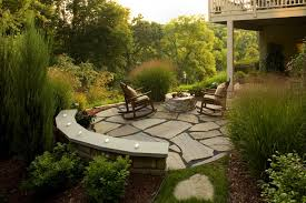 landscape design for a steep back yard in golden valley mn