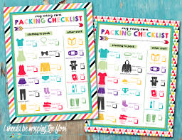 mopping floor free printable children u0027s packing lists