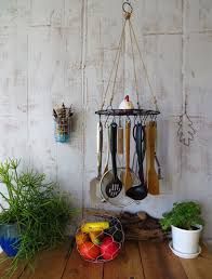 hanging utensil holder organizer rack herb dryer kitchen and