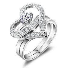 love wedding rings images Twist heart love swiss diamond setting wedding ring in 925 jpg