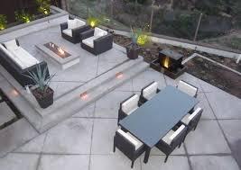 Backyard Cement Patio Ideas Back Patio Outdoor Living Concrete Backyard Landscaping Quality