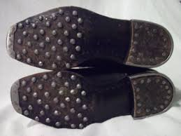 s boots size 9 1 2 ww2 original german boots with hobnail heal irons toe caps