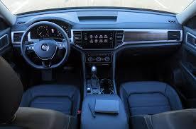 volkswagen atlas white interior 2018 volkswagen atlas v 6 first test review party motor trend