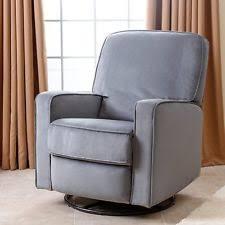 abbyson living emma nursery swivel glider recliner chair fabric