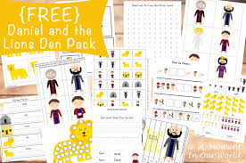 free daniel and the lions den pack free homeschool deals