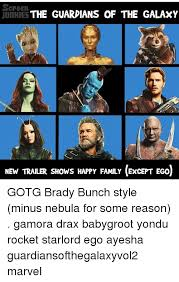 screen the guardians of the galaxy junries new trailer shows happy
