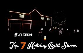 halloween light shows top 7 holiday house light shows synced to edm your edm