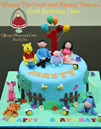 1st birthday winnie the pooh theme image inspiration of cake and
