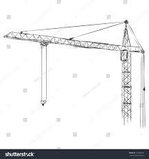 vector sketch building tower crane stock vector 310008518