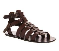 mens poste spiculus gladiator sandal brown leather sandals ebay