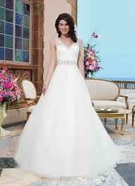 wedding dress sheer straps sincerity 2015 sheer beaded straps a line wedding dresses v neck