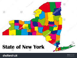 Map Of New York State by Vector Map New York State All Stock Vector 64001260 Shutterstock