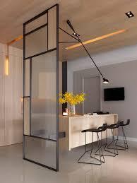 separation cuisine verriere séparateur de pièce design minimaliste séparation cuisine salon avec