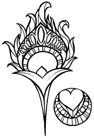 peacock outline easy clipart