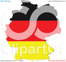 Germany Flag Colors Clipart Germany Map With Flag Colors Royalty Free Vector