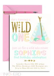 wild one birthday invitation boho birthday invitation feather