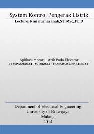 aplikasi motor listrik pada elevator