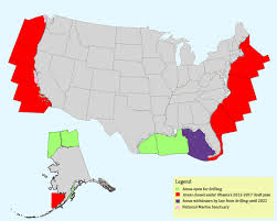 New Map Of United States After 2012 by Obama Administration Imposes Five Year Drilling Ban On Majority Of