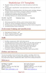ms office cv format statistician cv template tips and download cv plaza