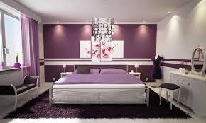 dark brown wooden bedside table light purple bedroom purple shade