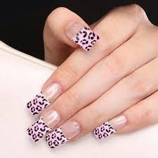 yaoshun 70 pcs pre design french acrylic false nail tips pink base