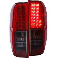 nissan frontier led light bar anzo usa nissan frontier 05 13 l e d tail lights red smoke