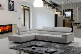 Grey Sectional Sofas Furniture Nostalgic Fancy Gray Leather Sectional For Living Room