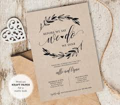 wedding rehearsal invitations rustic wedding rehearsal invitation instant printable