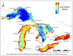 Lake Maps Mn Threat Map Highlights Great Lakes Restoration Challenges