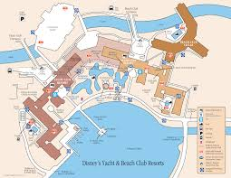 Disney Florida Map by Disney Yacht And Beach Club Resort Map