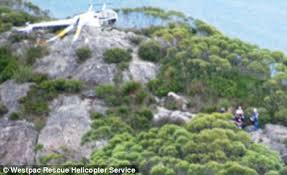 mount barney national park men narrowly escape death