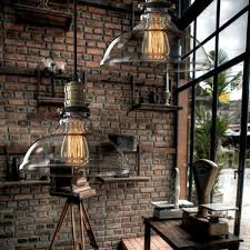Country Style Pendant Lights Vintage American Country Style Industrial Clear And Glass