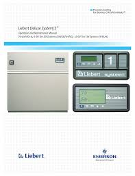 emerson liebert deluxe system 3 dh user manual 80 pages also