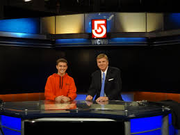 News Studio Desk by Hudson High Students Visit Chronical And Wcvb Channel 5