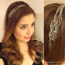 beaded headband hair idea beaded headband du jour
