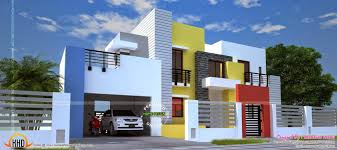 Home Design Sq Feet Wide Contemporary Home Kerala Home Design And