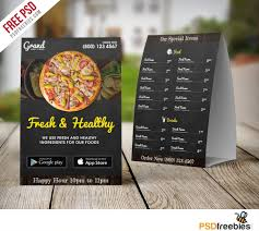 Table Tent Cards Restaurant Table Tent Menu Template Free Psd Download Download Psd