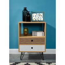 meuble bout de canapé colette bout de canapé chevet scandinave décor chêne et