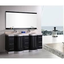 Bathrooms With Double Vanities Design Element Supreme 72 Inch Espresso Double Sink Bathroom