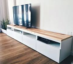 ikea console hack tv tables ikea console hack using reclaimed pallet wood handcrafted