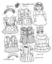 1088 paper doll black white images paper