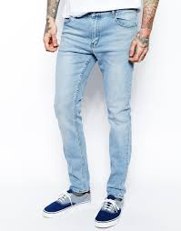 mens light blue jeans skinny cheap monday tight jeans skinny fit in stonewash blue where to buy