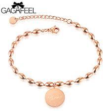 custom engraving jewelry gagafeel custom engraving logo woman bracelet jewelry