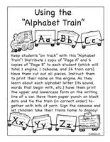 alphabet and letter activities lessons printables and worksheets