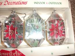 vintage jewelbrite plastic ornaments shape