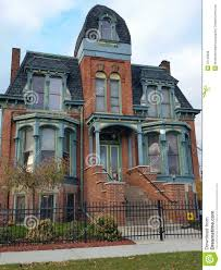 detroit old brick victorian home editorial image image 47109260